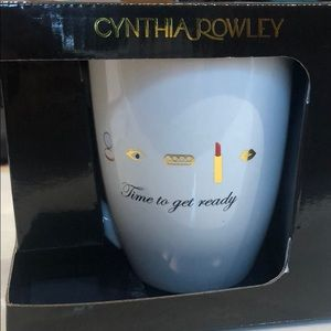 Cynthia Rowley White Time to get ready coffee mug